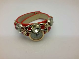 Wrap PU leder Crystal Rhinestone Wrap  horloge.