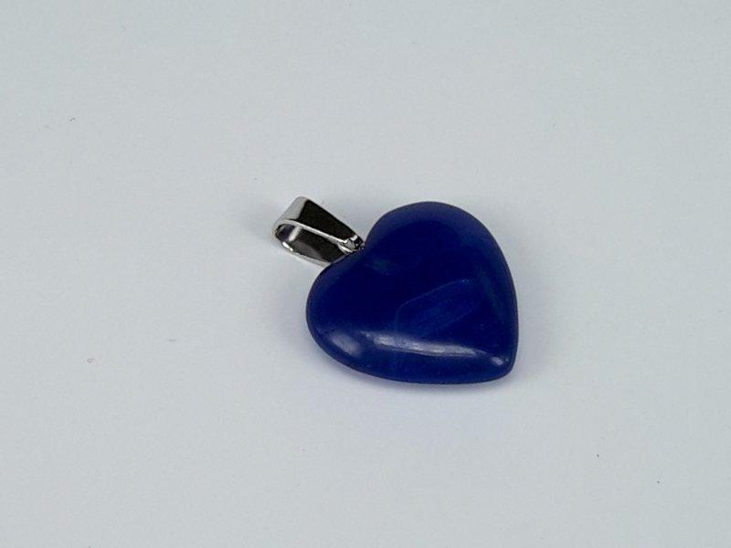 Hanger, Lapis lazuli hartje, kwarts edelsteen