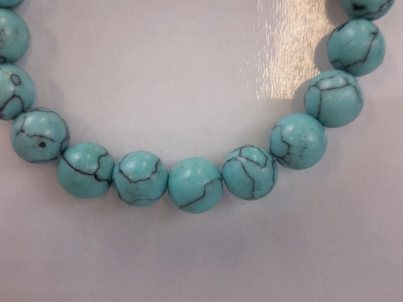 Armband Turkoois groenblauw 19 kralen