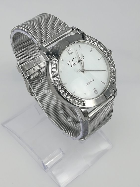 RVS Quartz Horloge, Vansoar, strass