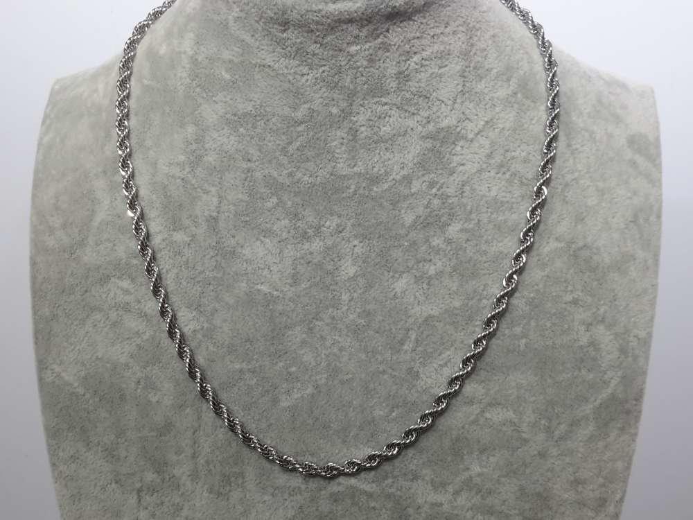 Edelstaal, koord kettingen 45 cm