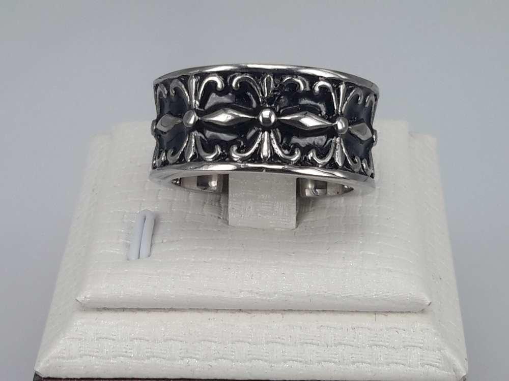 Edelstaal Ringen, Gothic, Lelie, 2 Stuks