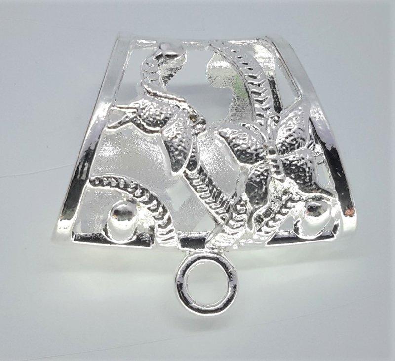 Koppelstuk voor sjaalhanger: aluminium , vlinder