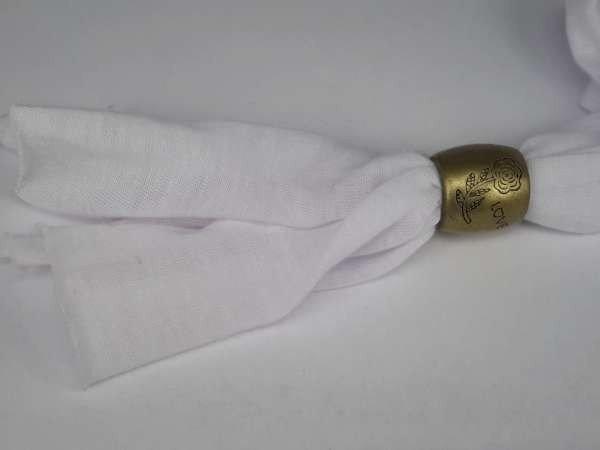 Eind of tussenring voor sjaal, per 10