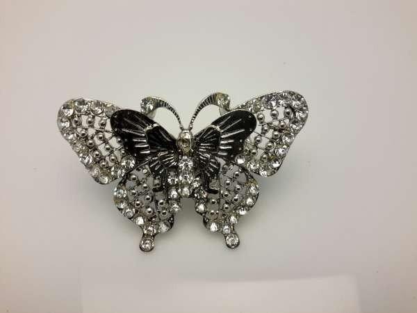 Sjaalring, vlinder, strass