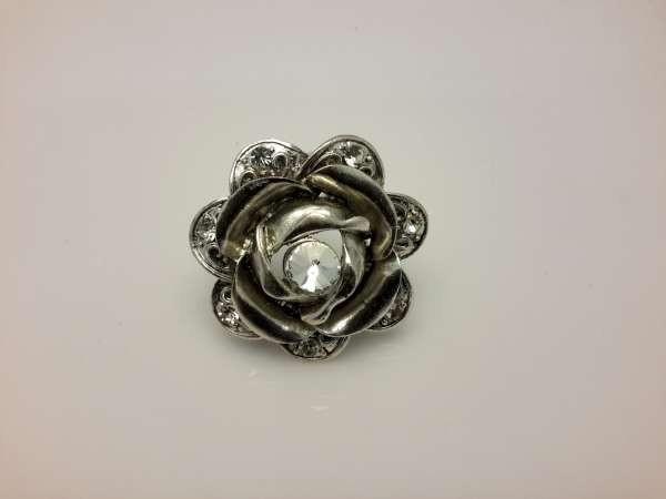 Sjaal ring, roos, zirkonia