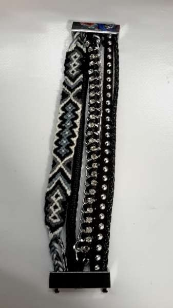 Ibiza armband, Negro