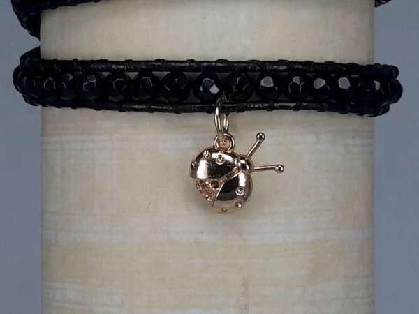 Bedeltje, goudkleurig lieveheersbeestje