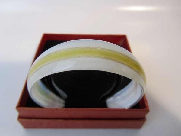 Murano armband, kleurencombinatie transparant, wit, goud, crème