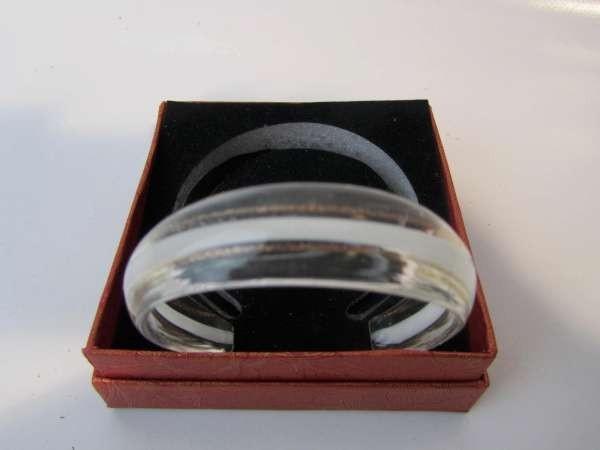 Murano armband, kleurencombinatie transparant, goud, wit