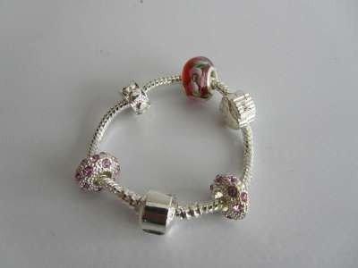 Armband voor pandora bedels, zilverkleur, 14 cm