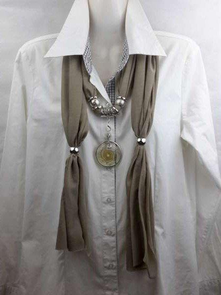 Sjaal + ronde bolle murano, krulweb