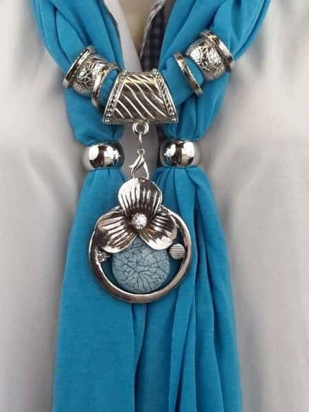 Sjaal + murano turq kleur