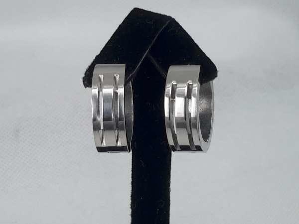 rvs oorringen,voor hem en haar 20mm rond kliksysteem.