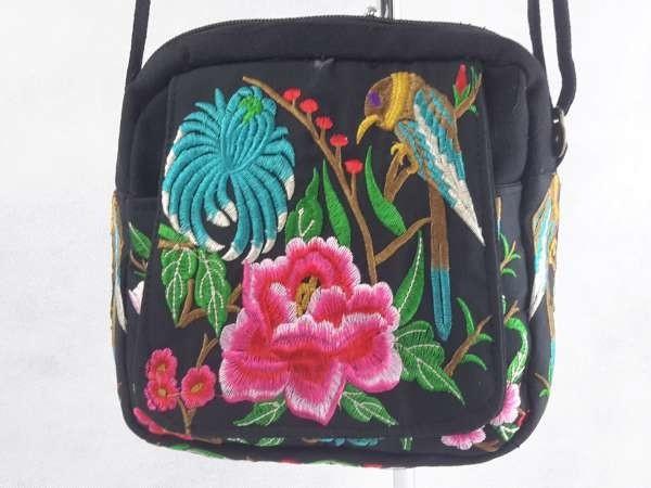 Hippe Boho, schouder tas, Tibetaanse geborduurd.