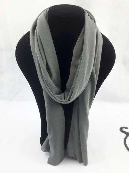 Basissjaal uni viscose grijs sjaal, 6 St