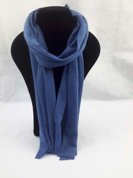 Basis uni viscose sjaal marineblauw, 6 sts