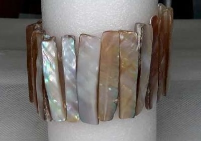 Schelp armband  naturel.