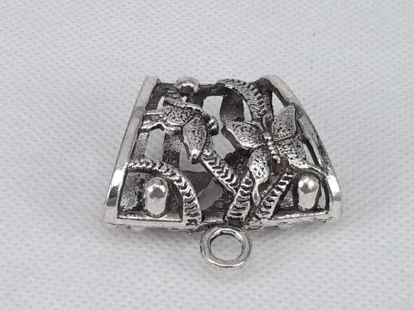 Koppelstuk voor sjaalhanger: metaal, vlinders ( ringen voor sjaal ).