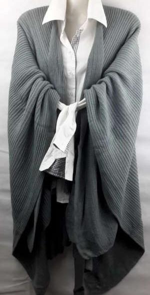 Omslagdoek & Vest, geweven, riem