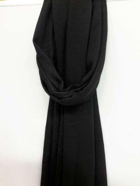 Basis uni viscose sjaal, zwart, 6 St