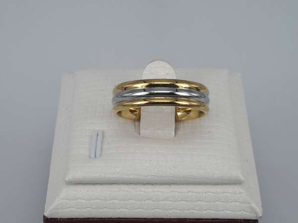 Edelstaal Ringen, 2 goudkl ring 1 staalkl ring, doos 36 st
