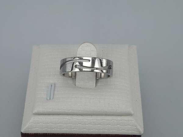 Edelstaal Ringen, 2 gekromde streep, doos 36st