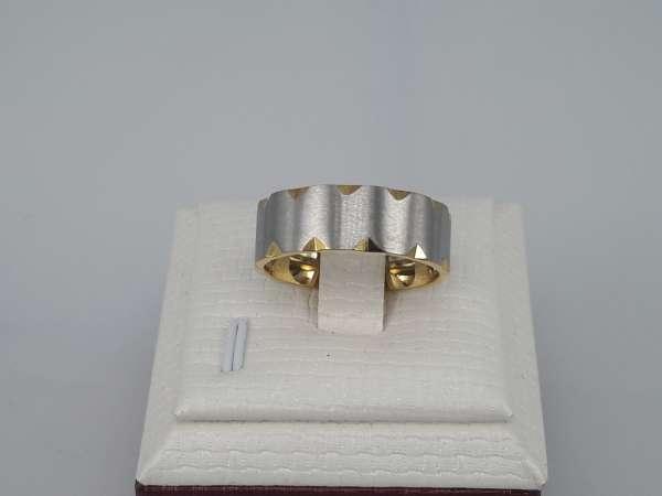 Edelstaal Ringen breed, goudkl, dia vierkant staalkl, doos 36st