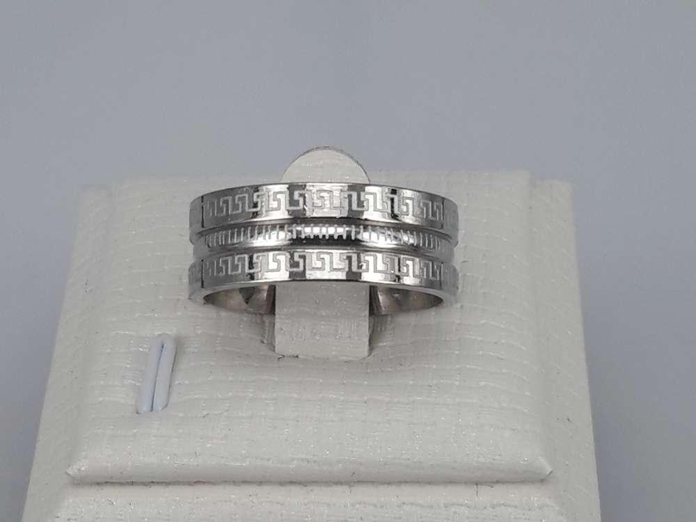 Edelstaal Ringen, dubbel symbool, doos 36 st