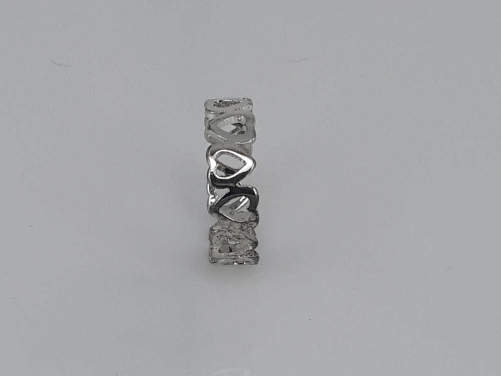 Edelstaal Ringen, hartjes, doos 36 st
