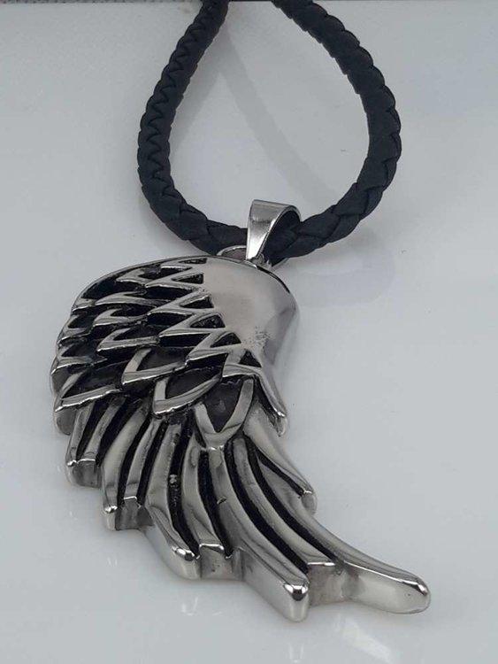 Edelstaal hanger, Gotisch, grote Vleugel
