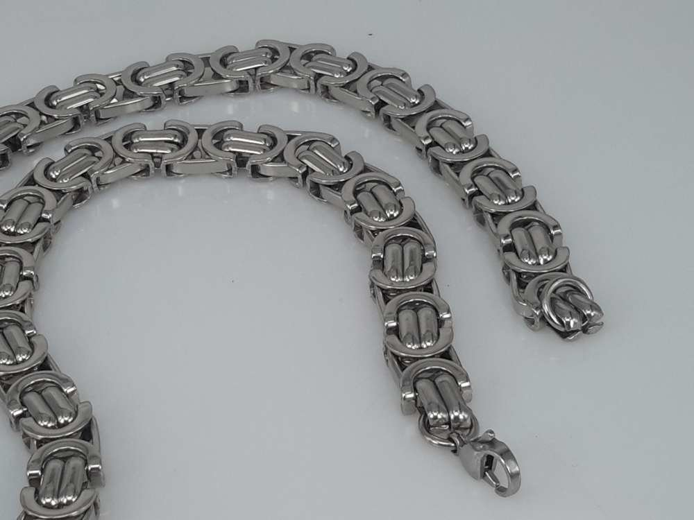Edelstaal Konings- Armband & Ketting, diverse ringen