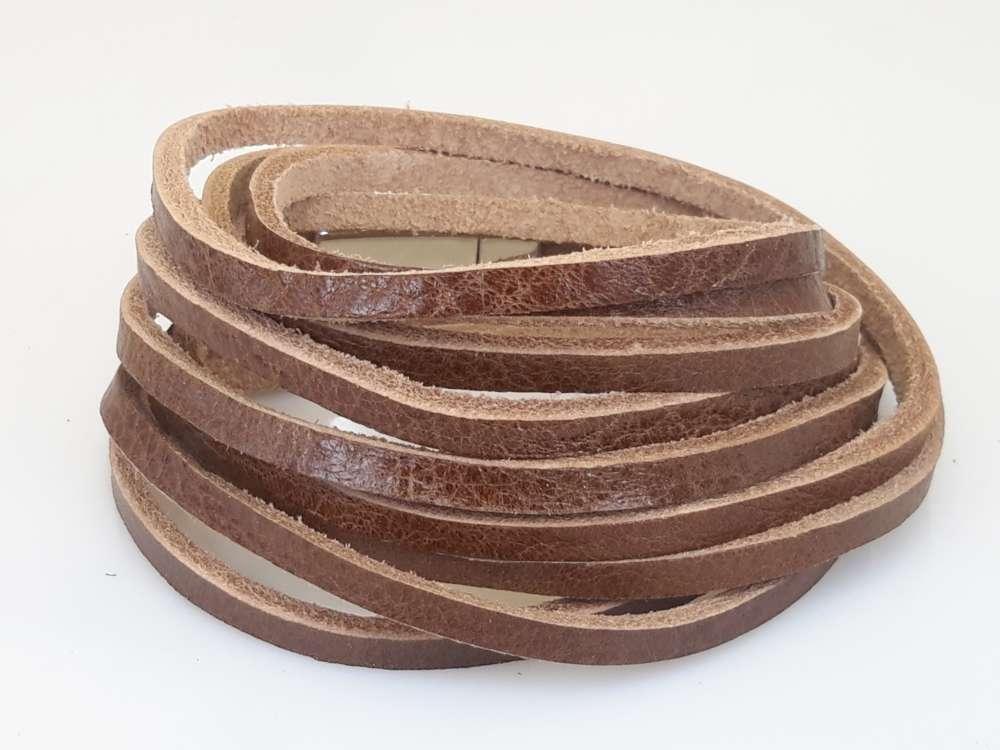 Leren 3 wrap Armband, 3 baan glad, bruin of zwart