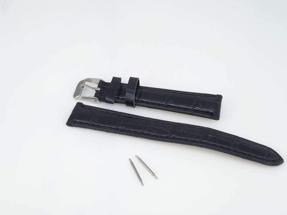 Horlogeband motief, bruin PU leder smal, gesp, zwart of bruin