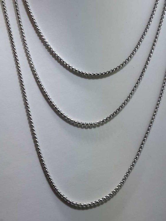 Edelstaal Open Jasseron ketting, L 50 cm