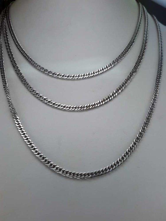 Edelstaal Gourmetschakel ketting, L 50 cm