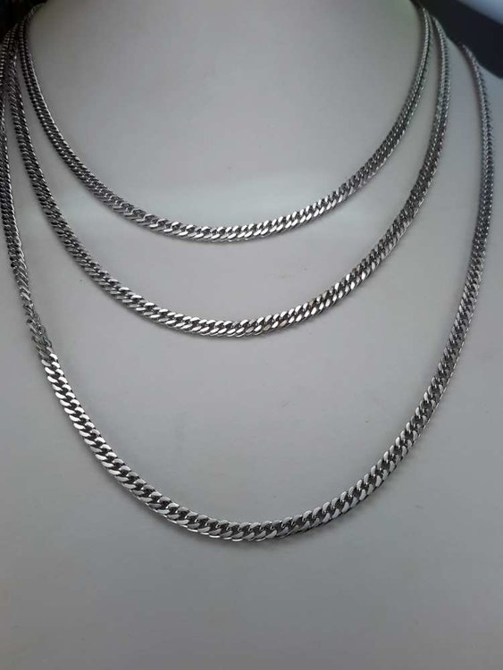 Edelstaal Gourmetschakel ketting, L 60 cm