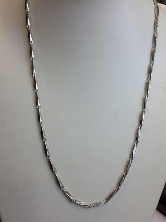 Edelstaal Gepolijst schakel ketting, L 60 cm