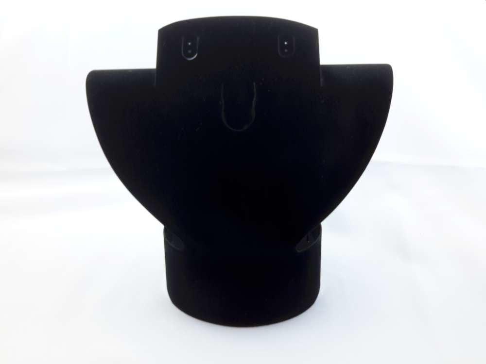 Vouwbaar velours halsbuste, zwart