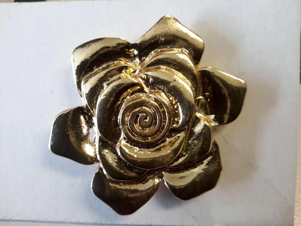 Magneet Broche, roos motief 4, metaal