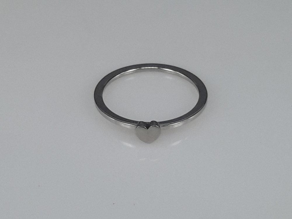 Edelstaal Ringen, hart, doos 36st