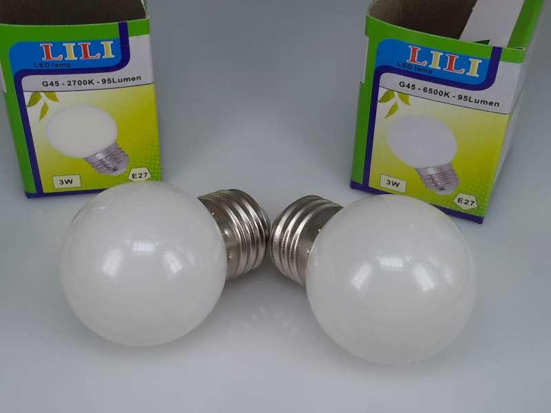 Ledlampen 3W, E27 G45
