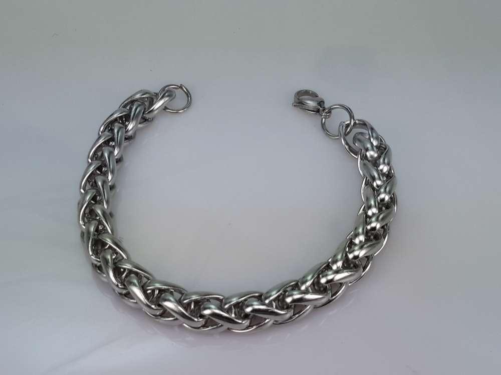 Edelstaal vossenstaart schakel armband. keuze uit lengte armband 20.5 en 22 cm.