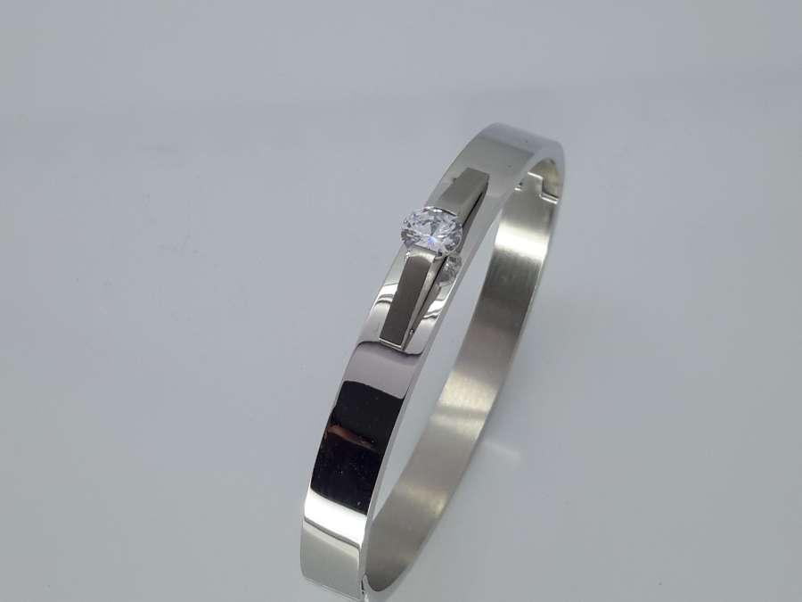 Slaven Armband, diamandkristal, ovaal edelstaal