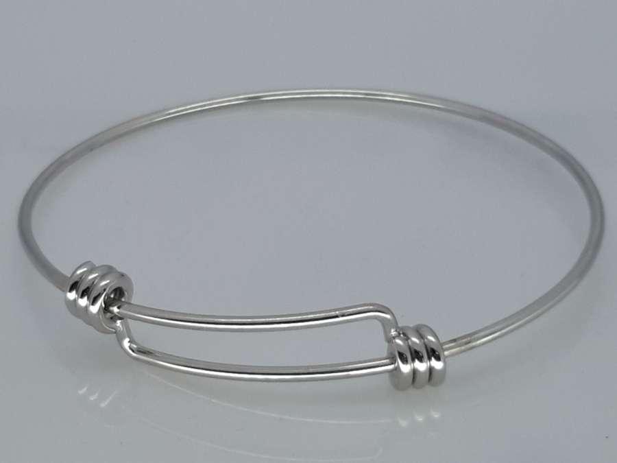 Slaven-Armband glad, rekbare binnenmaat, edelstaal