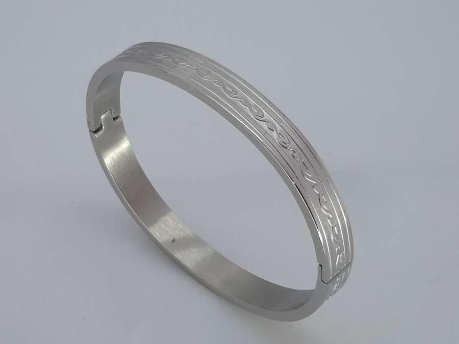 Slaven-klik-Armband, slangmotief, edelstaal
