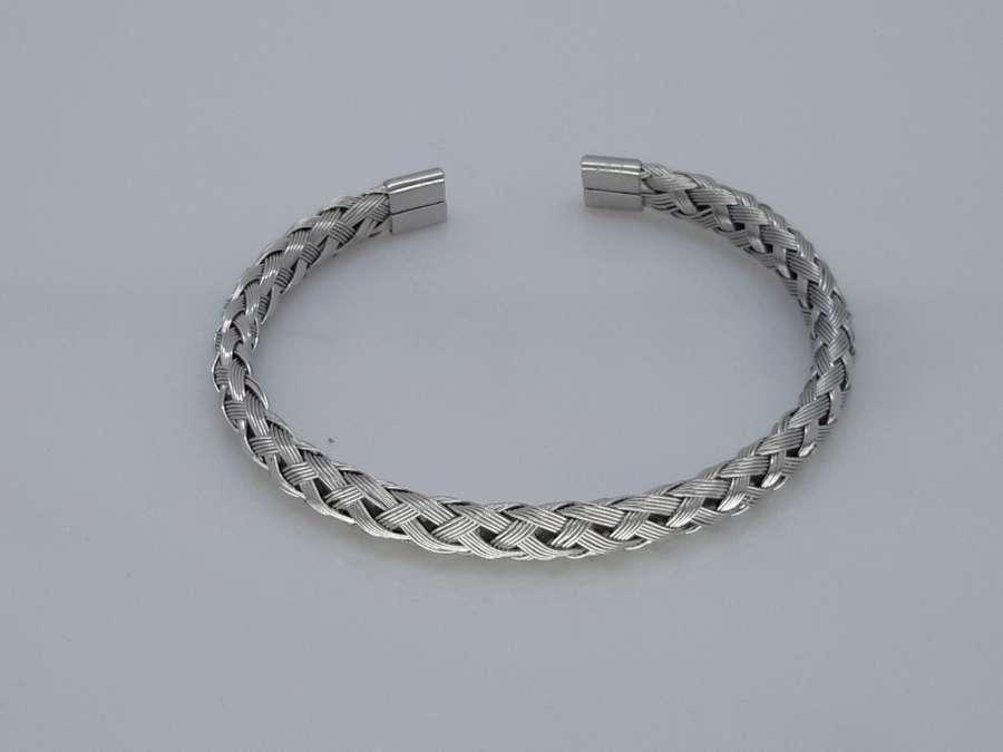 Slaven-Armband, ovaal gevlochten mantel, edelstaal