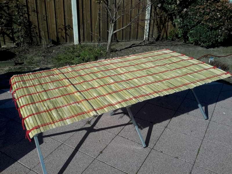 Bamboe tafelblad, 100cm oprolbaar