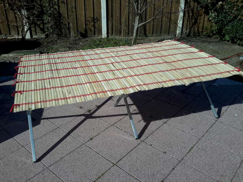Bamboe tafelblad, 120cm oprolbaar