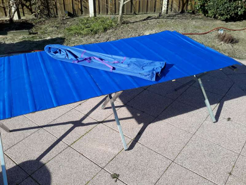 PVC-stoffen tafelblad, 100cm oprolbaar